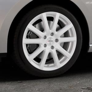 AUTEC Skandic ECE Brillantsilber lackiert Felge mit Reifen in 17Zoll Winterfelge Alufelge auf silbernem Seat Leon Typ 5F ST Facelift ⬇️ mit 15mm Tieferlegung ⬇️ Industriehalle 1 Thumbnail