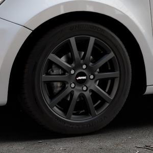 AUTEC Skandic ECE Schwarz matt Felge mit Reifen in 15Zoll Winterfelge Alufelge auf silbernem Audi A1 Typ 8X (Sportback) ⬇️ mit 15mm Tieferlegung ⬇️ Industriehalle 1 Thumbnail