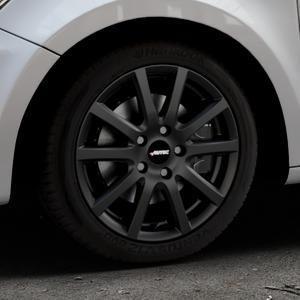 AUTEC Skandic ECE Schwarz matt Felge mit Reifen in 16Zoll Winterfelge Alufelge auf silbernem Audi A1 Typ 8X ⬇️ mit 15mm Tieferlegung ⬇️ Industriehalle 1 Thumbnail