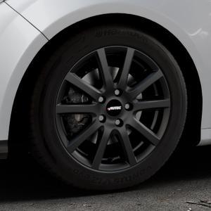 AUTEC Skandic ECE Schwarz matt Felge mit Reifen in 16Zoll Winterfelge Alufelge auf silbernem Ford Focus III Typ DYB (Schrägheck) (Stufenheck) Facelift ⬇️ mit 15mm Tieferlegung ⬇️ Industriehalle 1 Thumbnail