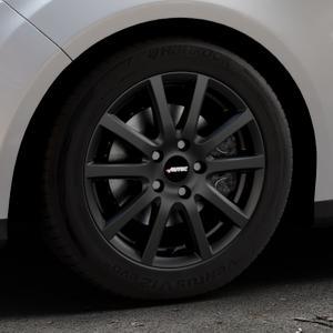 AUTEC Skandic ECE Schwarz matt Felge mit Reifen in 16Zoll Winterfelge Alufelge auf silbernem Ford Focus III Typ DYB (Turnier) ⬇️ mit 15mm Tieferlegung ⬇️ Industriehalle 1 Thumbnail