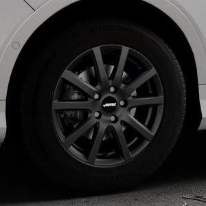 AUTEC Skandic ECE Schwarz matt Felge mit Reifen in 16Zoll Winterfelge Alufelge auf silbernem Ford Kuga II Facelift (15->) (17->) ⬇️ mit 15mm Tieferlegung ⬇️ Industriehalle 1 Thumbnail