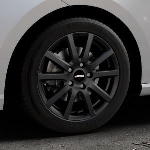 AUTEC Skandic ECE Schwarz matt Felge mit Reifen in 16Zoll Winterfelge Alufelge auf silbernem Seat Ibiza V Typ KJ ⬇️ mit 15mm Tieferlegung ⬇️ Industriehalle 1 Thumbnail
