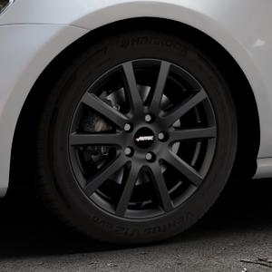 AUTEC Skandic ECE Schwarz matt Felge mit Reifen in 16Zoll Winterfelge Alufelge auf silbernem Volkswagen (VW) Golf 7 ⬇️ mit 15mm Tieferlegung ⬇️ Industriehalle 1 Thumbnail