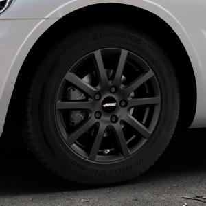 AUTEC Skandic Schwarz matt Felge mit Reifen in 15Zoll Winterfelge Alufelge auf silbernem Chrysler PT Cruiser Cabriolet ⬇️ mit 15mm Tieferlegung ⬇️ Industriehalle 1 Thumbnail