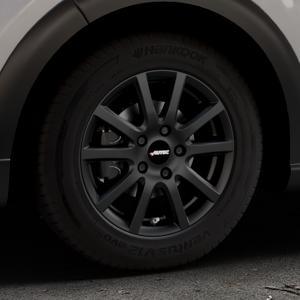 AUTEC Skandic Schwarz matt Felge mit Reifen in 15Zoll Winterfelge Alufelge auf silbernem Citroen C3 III ⬇️ mit 15mm Tieferlegung ⬇️ Industriehalle 1 Thumbnail