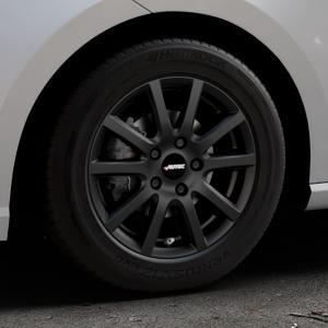 AUTEC Skandic Schwarz matt Felge mit Reifen in 15Zoll Winterfelge Alufelge auf silbernem Seat Ibiza V Typ KJ ⬇️ mit 15mm Tieferlegung ⬇️ Industriehalle 1 Thumbnail