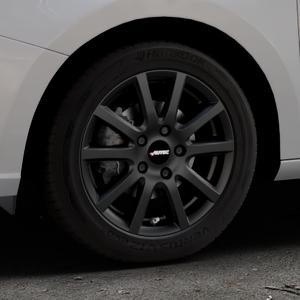 AUTEC Skandic Schwarz matt Felge mit Reifen in 15Zoll Winterfelge Alufelge auf silbernem Skoda Fabia III Typ 5J ⬇️ mit 15mm Tieferlegung ⬇️ Industriehalle 1 Thumbnail