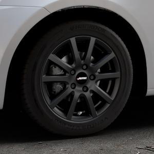 AUTEC Skandic Schwarz matt Felge mit Reifen in 15Zoll Winterfelge Alufelge auf silbernem Suzuki Swift V Typ NZ FZ ⬇️ mit 15mm Tieferlegung ⬇️ Industriehalle 1 Thumbnail
