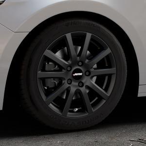 AUTEC Skandic Schwarz matt Felge mit Reifen in 16Zoll Winterfelge Alufelge auf silbernem Audi A1 Typ GB (Sportback) ⬇️ mit 15mm Tieferlegung ⬇️ Industriehalle 1 Thumbnail