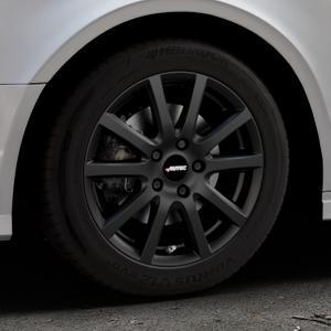 AUTEC Skandic Schwarz matt Felge mit Reifen in 16Zoll Winterfelge Alufelge auf silbernem Audi A3 Typ 8V (Limousine) Facelift ⬇️ mit 15mm Tieferlegung ⬇️ Industriehalle 1 Thumbnail