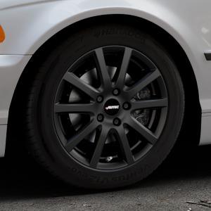 AUTEC Skandic Schwarz matt Felge mit Reifen in 16Zoll Winterfelge Alufelge auf silbernem BMW 316i Typ E46 (Limousine) 318i 320i 323i 328i 325i 330d 330xd 330i 318d 320d 325xi 330xi ⬇️ mit 15mm Tieferlegung ⬇️ Industriehalle 1 Thumbnail