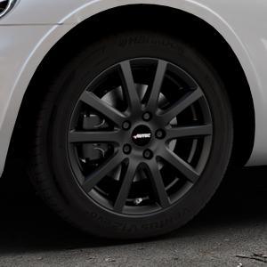 AUTEC Skandic Schwarz matt Felge mit Reifen in 16Zoll Winterfelge Alufelge auf silbernem Chrysler PT Cruiser Cabriolet ⬇️ mit 15mm Tieferlegung ⬇️ Industriehalle 1 Thumbnail