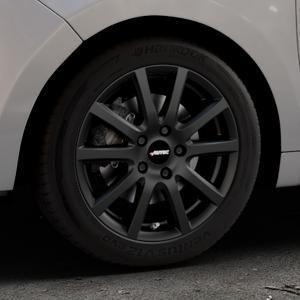 AUTEC Skandic Schwarz matt Felge mit Reifen in 16Zoll Winterfelge Alufelge auf silbernem Citroen C3 Picasso ⬇️ mit 15mm Tieferlegung ⬇️ Industriehalle 1 Thumbnail