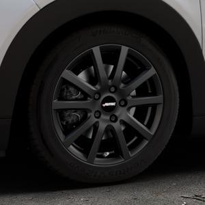 AUTEC Skandic Schwarz matt Felge mit Reifen in 16Zoll Winterfelge Alufelge auf silbernem Citroen C4 Cactus Typ 0 ⬇️ mit 15mm Tieferlegung ⬇️ Industriehalle 1 Thumbnail