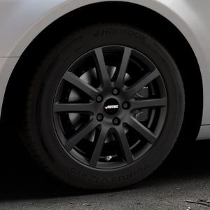 AUTEC Skandic Schwarz matt Felge mit Reifen in 16Zoll Winterfelge Alufelge auf silbernem Citroen C5 II ⬇️ mit 15mm Tieferlegung ⬇️ Industriehalle 1 Thumbnail