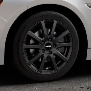 AUTEC Skandic Schwarz matt Felge mit Reifen in 16Zoll Winterfelge Alufelge auf silbernem Fiat 124 Spider Typ NF ⬇️ mit 15mm Tieferlegung ⬇️ Industriehalle 1 Thumbnail