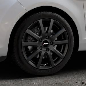 AUTEC Skandic Schwarz matt Felge mit Reifen in 16Zoll Winterfelge Alufelge auf silbernem Ford Fiesta VI Typ JA8 Facelift ⬇️ mit 15mm Tieferlegung ⬇️ Industriehalle 1 Thumbnail