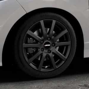 AUTEC Skandic Schwarz matt Felge mit Reifen in 16Zoll Winterfelge Alufelge auf silbernem Honda Jazz IV (GK) Facelift ⬇️ mit 15mm Tieferlegung ⬇️ Industriehalle 1 Thumbnail