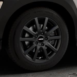 AUTEC Skandic Schwarz matt Felge mit Reifen in 16Zoll Winterfelge Alufelge auf silbernem Hyundai Kona Typ OS ⬇️ mit 15mm Tieferlegung ⬇️ Industriehalle 1 Thumbnail