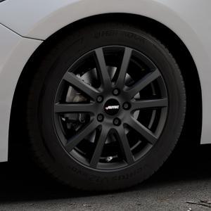 AUTEC Skandic Schwarz matt Felge mit Reifen in 16Zoll Winterfelge Alufelge auf silbernem Mazda 3 (13-) Stufenheck (BM) Sport (17-) Facelift Fließheck ⬇️ mit 15mm Tieferlegung ⬇️ Industriehalle 1 Thumbnail