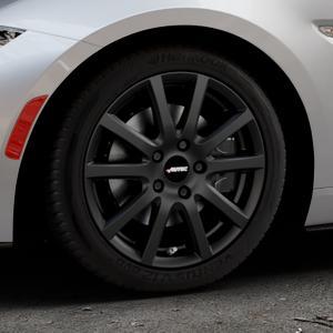 AUTEC Skandic Schwarz matt Felge mit Reifen in 16Zoll Winterfelge Alufelge auf silbernem Mazda MX-5 IV RF (ND) ⬇️ mit 15mm Tieferlegung ⬇️ Industriehalle 1 Thumbnail