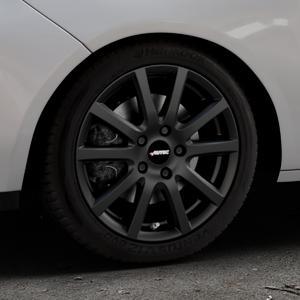AUTEC Skandic Schwarz matt Felge mit Reifen in 16Zoll Winterfelge Alufelge auf silbernem Opel Adam ⬇️ mit 15mm Tieferlegung ⬇️ Industriehalle 1 Thumbnail