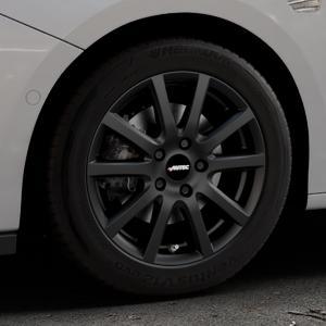AUTEC Skandic Schwarz matt Felge mit Reifen in 16Zoll Winterfelge Alufelge auf silbernem Opel Astra K Typ B-K ⬇️ mit 15mm Tieferlegung ⬇️ Industriehalle 1 Thumbnail