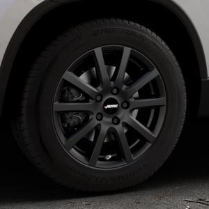 AUTEC Skandic Schwarz matt Felge mit Reifen in 16Zoll Winterfelge Alufelge auf silbernem Skoda Karoq Typ NU ⬇️ mit 15mm Tieferlegung ⬇️ Industriehalle 1 Thumbnail