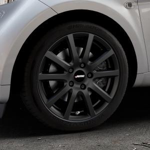 AUTEC Skandic Schwarz matt Felge mit Reifen in 16Zoll Winterfelge Alufelge auf silbernem Smart Fortwo Coupe III (14-) (453) Cabrio (16-) ⬇️ mit 15mm Tieferlegung ⬇️ Industriehalle 1 Thumbnail