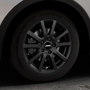 AUTEC Skandic Schwarz matt Felge mit Reifen in 16Zoll Winterfelge Alufelge auf silbernem Ssangyong Tivoli Typ XK ⬇️ mit 15mm Tieferlegung ⬇️ Industriehalle 1 Thumbnail