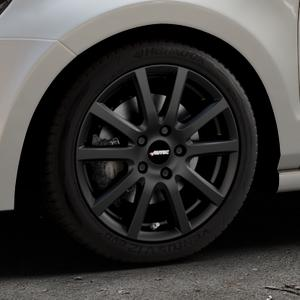 AUTEC Skandic Schwarz matt Felge mit Reifen in 16Zoll Winterfelge Alufelge auf silbernem Volkswagen (VW) Polo V Typ 6R ⬇️ mit 15mm Tieferlegung ⬇️ Industriehalle 1 Thumbnail