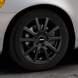 AUTEC Skandic Schwarz matt Felge mit Reifen in 16Zoll Winterfelge Alufelge auf silbernem Volvo C70 II Cabriolet Typ M ⬇️ mit 15mm Tieferlegung ⬇️ Industriehalle 1 Thumbnail