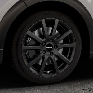 AUTEC Skandic Schwarz matt Felge mit Reifen in 17Zoll Winterfelge Alufelge auf silbernem Citroen C3 III ⬇️ mit 15mm Tieferlegung ⬇️ Industriehalle 1 Thumbnail