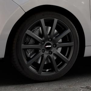 AUTEC Skandic Schwarz matt Felge mit Reifen in 17Zoll Winterfelge Alufelge auf silbernem Citroen C3 Picasso ⬇️ mit 15mm Tieferlegung ⬇️ Industriehalle 1 Thumbnail