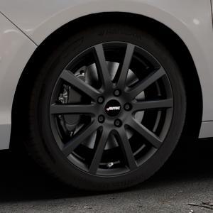 AUTEC Skandic Schwarz matt Felge mit Reifen in 17Zoll Winterfelge Alufelge auf silbernem Citroen C4 Typ N ⬇️ mit 15mm Tieferlegung ⬇️ Industriehalle 1 Thumbnail