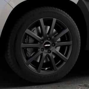 AUTEC Skandic Schwarz matt Felge mit Reifen in 17Zoll Winterfelge Alufelge auf silbernem Dacia Duster Typ SR ⬇️ mit 15mm Tieferlegung ⬇️ Industriehalle 1 Thumbnail