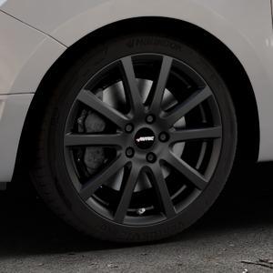 AUTEC Skandic Schwarz matt Felge mit Reifen in 17Zoll Winterfelge Alufelge auf silbernem Dacia Logan II Typ SD ⬇️ mit 15mm Tieferlegung ⬇️ Industriehalle 1 Thumbnail