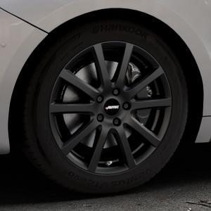 AUTEC Skandic Schwarz matt Felge mit Reifen in 17Zoll Winterfelge Alufelge auf silbernem DS Automobiles DS5 Typ K Facelift ⬇️ mit 15mm Tieferlegung ⬇️ Industriehalle 1 Thumbnail