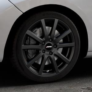 AUTEC Skandic Schwarz matt Felge mit Reifen in 17Zoll Winterfelge Alufelge auf silbernem Peugeot 207 SW ⬇️ mit 15mm Tieferlegung ⬇️ Industriehalle 1 Thumbnail