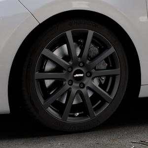AUTEC Skandic Schwarz matt Felge mit Reifen in 17Zoll Winterfelge Alufelge auf silbernem Peugeot 208 Typ C ⬇️ mit 15mm Tieferlegung ⬇️ Industriehalle 1 Thumbnail