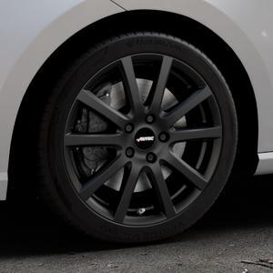 AUTEC Skandic Schwarz matt Felge mit Reifen in 17Zoll Winterfelge Alufelge auf silbernem Seat Ibiza V Typ KJ ⬇️ mit 15mm Tieferlegung ⬇️ Industriehalle 1 Thumbnail
