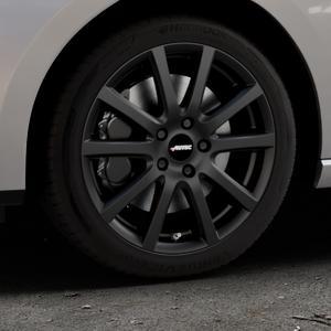 AUTEC Skandic Schwarz matt Felge mit Reifen in 17Zoll Winterfelge Alufelge auf silbernem Seat Leon Typ 5F ST Facelift ⬇️ mit 15mm Tieferlegung ⬇️ Industriehalle 1 Thumbnail