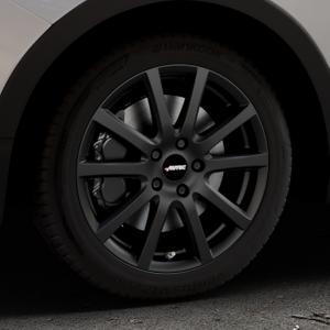 AUTEC Skandic Schwarz matt Felge mit Reifen in 17Zoll Winterfelge Alufelge auf silbernem Ssangyong Tivoli Typ XK ⬇️ mit 15mm Tieferlegung ⬇️ Industriehalle 1 Thumbnail