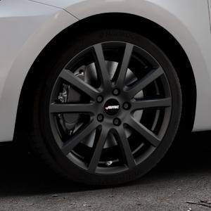AUTEC Skandic Schwarz matt Felge mit Reifen in 17Zoll Winterfelge Alufelge auf silbernem Suzuki Swift VI Typ AZ ⬇️ mit 15mm Tieferlegung ⬇️ Industriehalle 1 Thumbnail