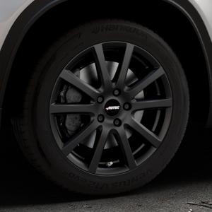 AUTEC Skandic Schwarz matt Felge mit Reifen in 17Zoll Winterfelge Alufelge auf silbernem Suzuki Vitara Typ LY ⬇️ mit 15mm Tieferlegung ⬇️ Industriehalle 1 Thumbnail