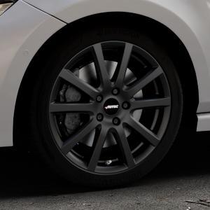 AUTEC Skandic Schwarz matt Felge mit Reifen in 17Zoll Winterfelge Alufelge auf silbernem Volkswagen (VW) Polo VI Typ AW ⬇️ mit 15mm Tieferlegung ⬇️ Industriehalle 1 Thumbnail