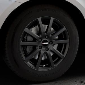 AUTEC Skandic Schwarz matt Felge mit Reifen in 17Zoll Winterfelge Alufelge auf silbernem Volvo XC60 Typ D Facelift ⬇️ mit 15mm Tieferlegung ⬇️ Industriehalle 1 Thumbnail