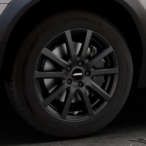 AUTEC Skandic Schwarz matt Felge mit Reifen in 17Zoll Winterfelge Alufelge auf silbernem Volvo XC70 II Typ B ⬇️ mit 15mm Tieferlegung ⬇️ Industriehalle 1 Thumbnail
