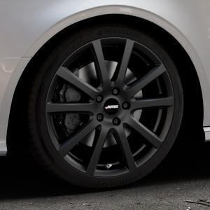 AUTEC Skandic Schwarz matt Felge mit Reifen in 18Zoll Winterfelge Alufelge auf silbernem Audi A3 Typ 8V (Cabriolet) ⬇️ mit 15mm Tieferlegung ⬇️ Industriehalle 1 Thumbnail